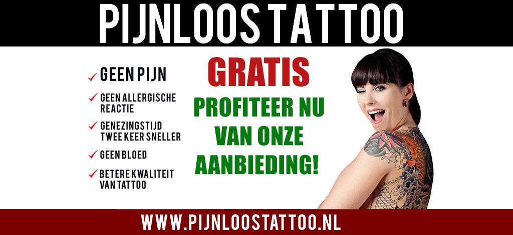 pijnloos tattoo gratis